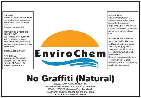 Natural Graffiti Cleaner.