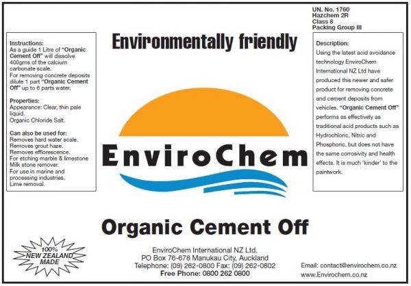 Organic Cement Off EnviroChem