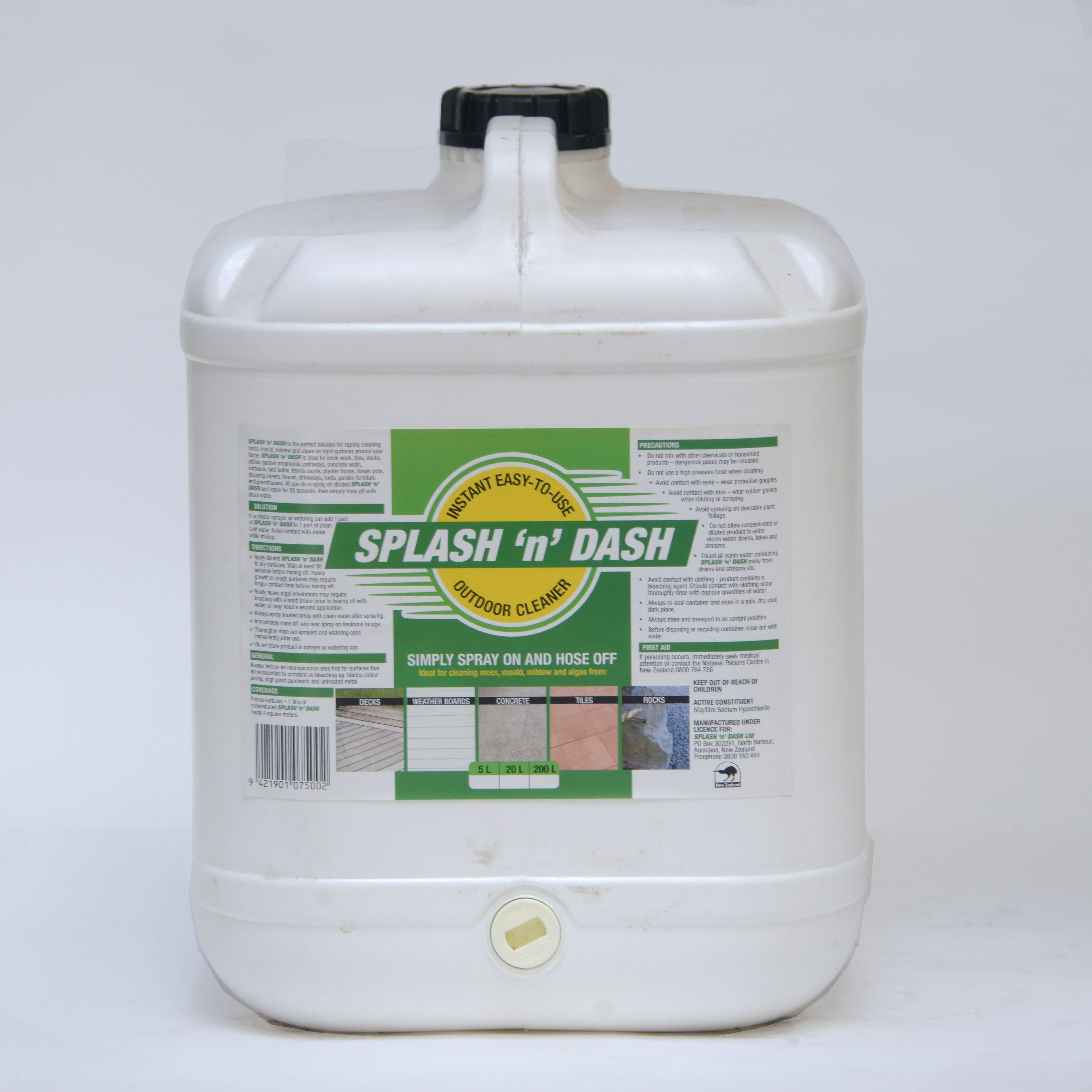 Splash Amp Dash Outdoor Moss And Mould Cleaner Envirochem