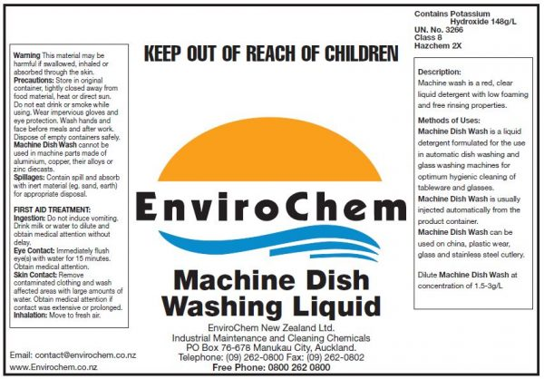 Machine Dish Washing Liquid EnviroChem