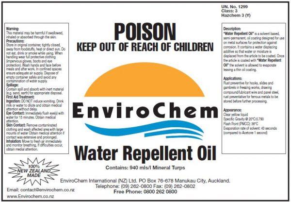 Water Repellent oil EnviroChem